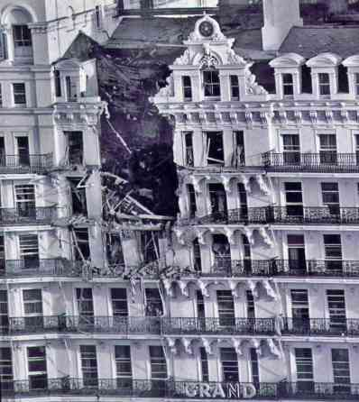 Results of the IRA bomb at the Grand Hotel